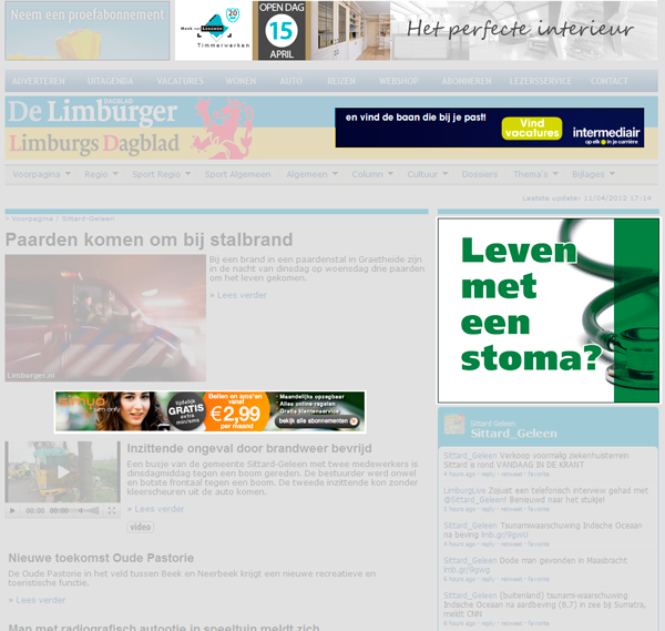 Bannering en adverteren op Dagblad de Limburger