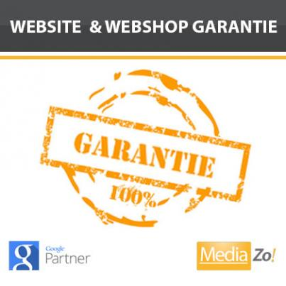 Garantie op alle websites & webshops van MediaZo!